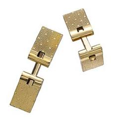 French yellow gold spring loaded cufflinks