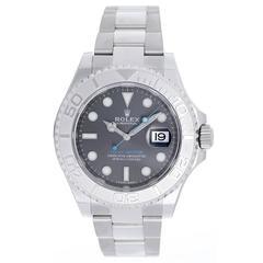 Rolex Stainless Steel Dark Rhodium Yacht-Master Automatic Wristwatch Ref 116622