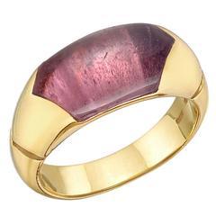 Bulgari Pink Sapphire Gold Dress Ring