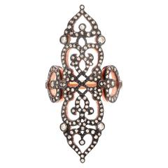 "Sabine Getty Diamond Gold ""Cross"" Ring"