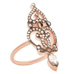 "Sabine Getty Diamond Gold ""Marquise"" Ring"