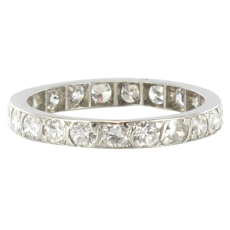 Diamond Platinum Eternity Band Ring 1