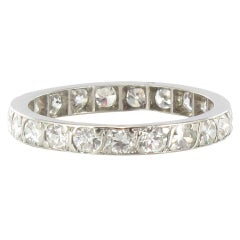 1 carat Diamond Platinum Eternity Band Ring