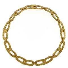 Buccellati Gold Woven Link Necklace