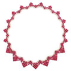 Favero Ruby Diamond Gold Collar Necklace