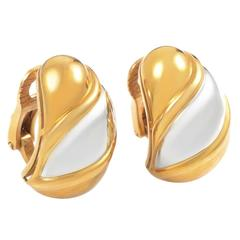 Bulgari Two Color Gold Clip-On Earrings