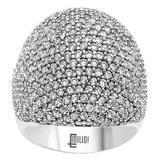 Emilio Jewelry Micro Pave Diamond Gold Ring