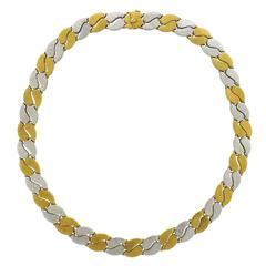 Mario Buccellati Two Color Gold Necklace