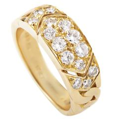 Van Cleef & Arpels Diamond Pave Gold Band Ring