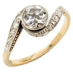 1920s Diamond Two-Color Gold Solitaire Ring