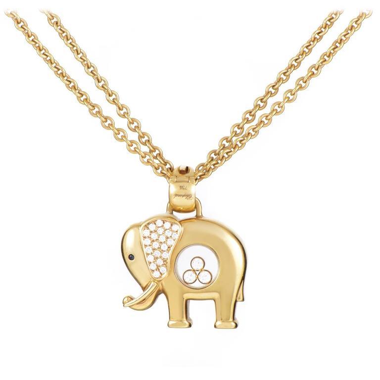 Chopard happy diamonds gold elephant pendant necklace at 1stdibs chopard happy diamonds gold elephant pendant necklace for sale aloadofball Choice Image