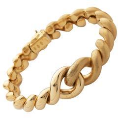 Florentine Finish Gold Link Bracelet