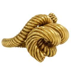 1970s Kurt Wayne Reeded Gold Ring