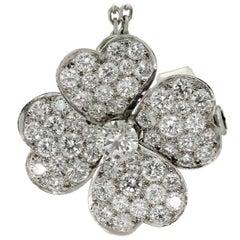 Van Cleef & Arpels Cosmos Medium Clip Diamond Gold Pendant Necklace
