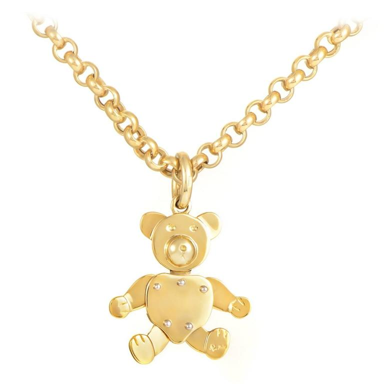 Pomellato gold teddy bear pendant necklace at 1stdibs pomellato gold teddy bear pendant necklace for sale aloadofball Gallery