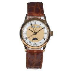 Universal Geneve Yellow Gold Triple Calendar Moonphase Wristwatch