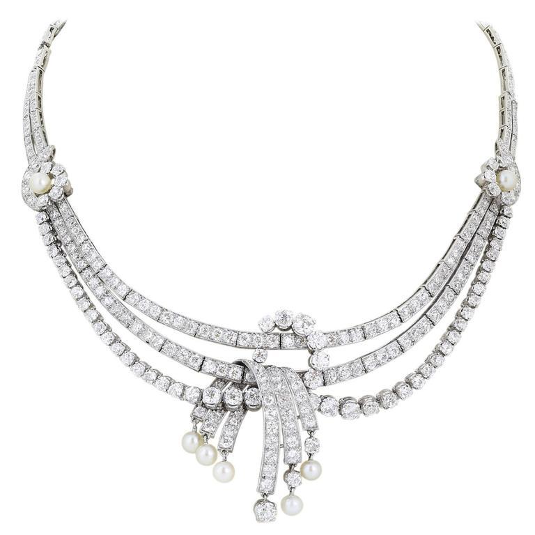25.00 Carat Diamonds Platinum Necklace