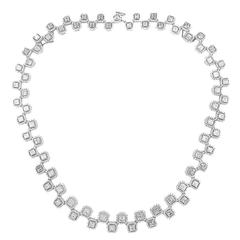 20.62 Carat Asscher Cut Diamond Necklace