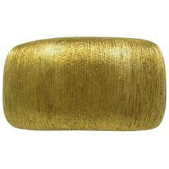 Bielka Beautiful Wide Gold Band Ring