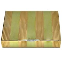 Antique Diamond Two Color Gold Box