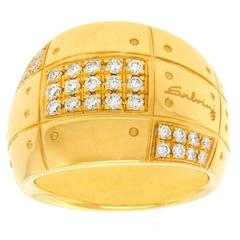 Salvini Diamond Set Modernist Gold Ring