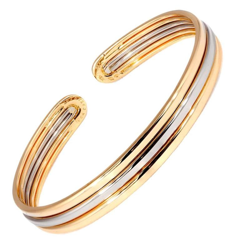 Van Cleef and Arpels Gold Cuff Bracelet at 1stdibs