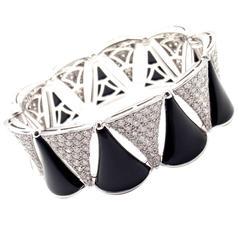Bulgari Diva Dream 9 Carats Diamonds Onyx Gold Bangle Bracelet