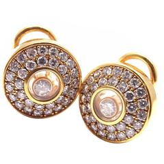 Chopard Happy Diamond Gold Earrings