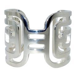Hermes Sterling Silver Bangle Bracelet