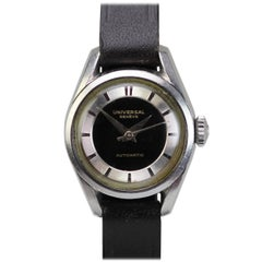 Universal Geneve Ladies Stainless Steel Automatic Wristwatch