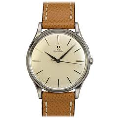 Omega Stainless Steel Thin Calatrava Wristwatch