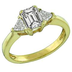 Amazing .69 Carat GIA Certified Emerald Cut Diamond Engagement Ring