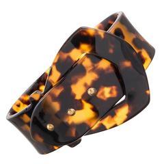 Victorian Tortoise Shell Buckle Bracelet