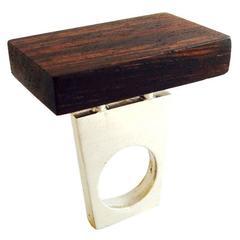 Heidi Abrahamson Rosewood Sterling Silver Ring