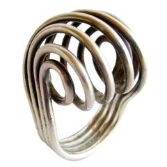 Anna Greta Eker for Plus Sterling Silver Spiral Ring