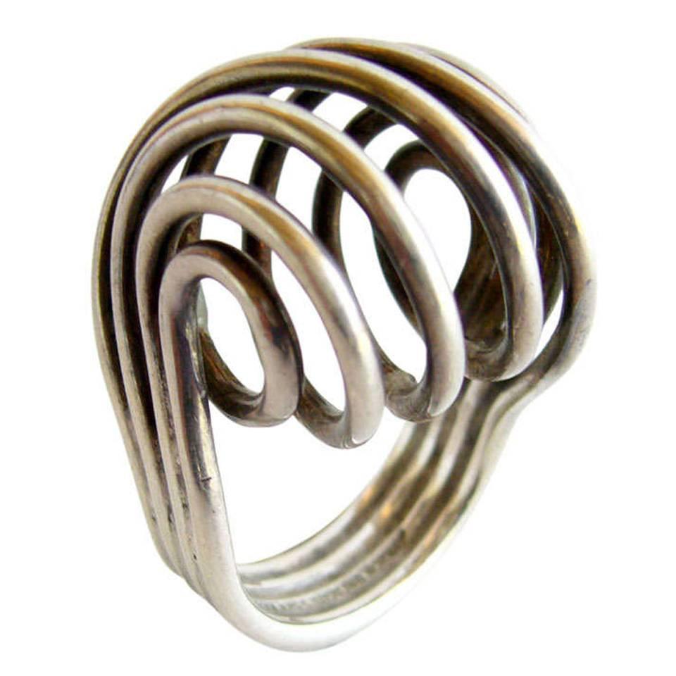 greta eker for plus sterling silver spiral ring for