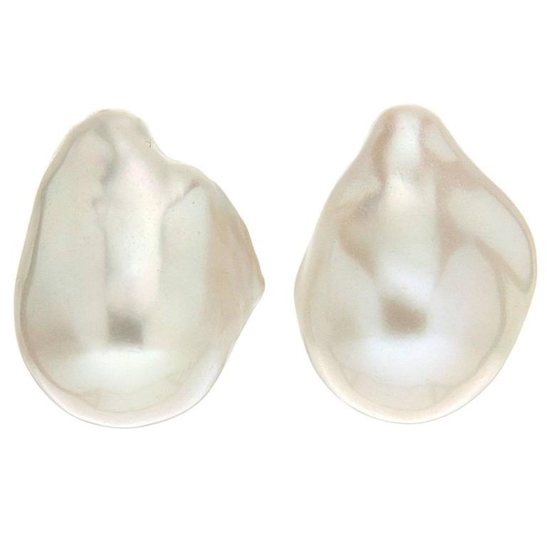 Valentin Magro Baroque Freshwater Pearl Clip-on Earrings
