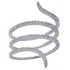Diamond White Gold Wrap Around Ring