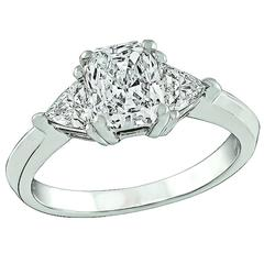 0.97 Carat GIA Cert Diamond Gold Engagement Ring