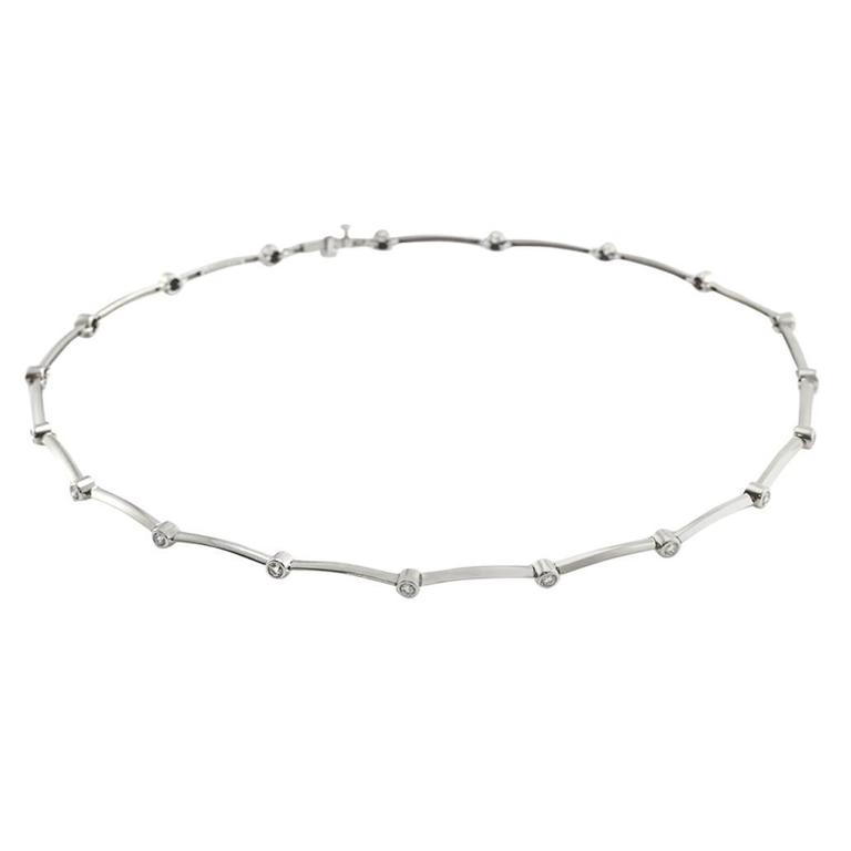 Tiffany & Co. Diamond Station Necklace in Platinum 1