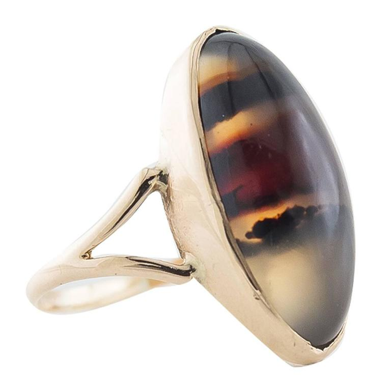 Montana Agate Gold Ring
