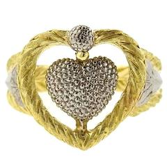 Buccellati Oro Two Color Gold Heart Ring