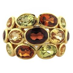 Temple St. Clair Hera Garnet Diamond Gold Bombe Ring
