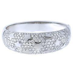 New Italian Art SRL Diamond Pave Gold Bangle Bracelet