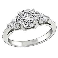 Tiffany & Co. 1.24 Carat Diamond Platinum Engagement Ring