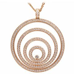 Chopard Large Diamond Gold Happy Spirit Necklace