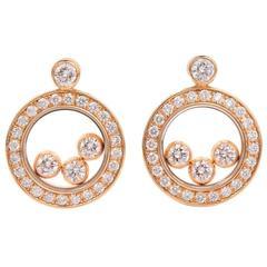 """Chopard Diamond Gold """"Happy Diamonds"""" Stud Earrings"""
