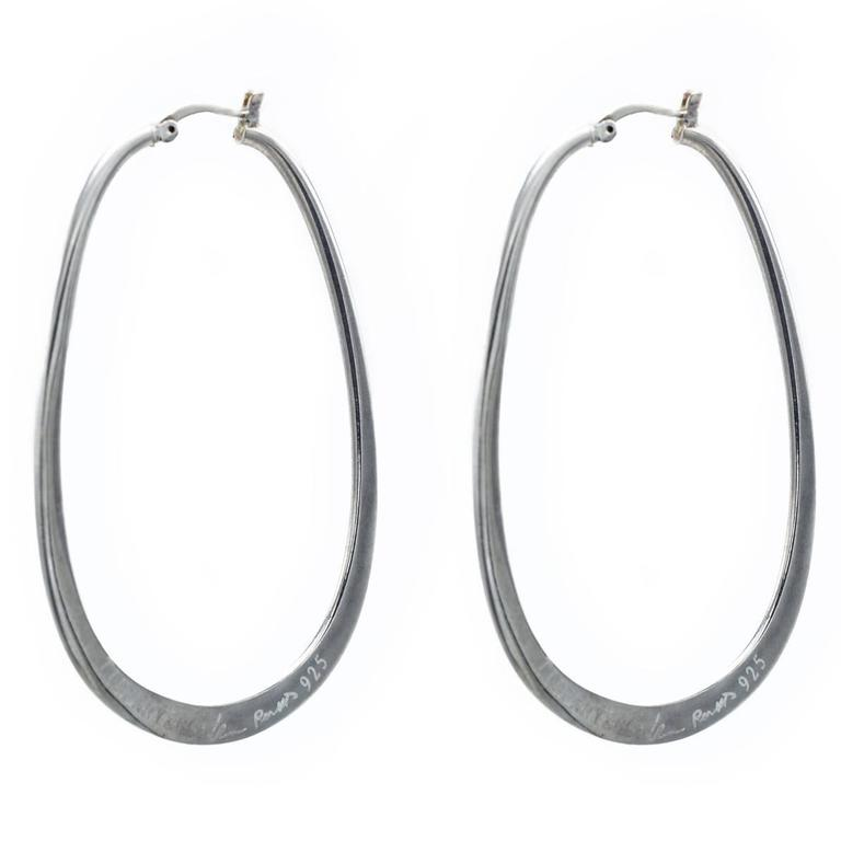 1c2df940f Tiffany Silver Hoop Earrings Large - Best All Earring Photos ...