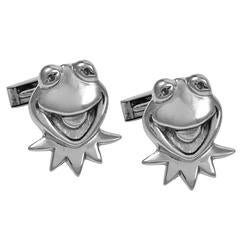 Kermit The Frog Sterling Cuff Links