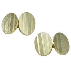 Tiffany & Co. Antique Extra-Heavy Gold Cufflinks